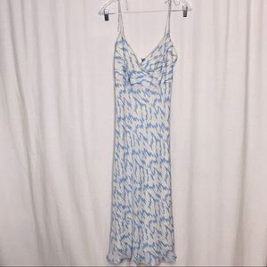 J Crew Blue Gray Silk Spaghetti Strap Dress 6